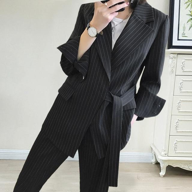 Women Professional temperament fashion warm suit elastic waist pant comfortable pant suits 7