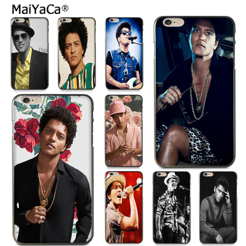 MaiYaCa Bruno Mars Protective black soft tpu Mobile Phone Case for Apple iPhone 8 7 6 6S Plus X 5 5S SE 5C case Cover ...
