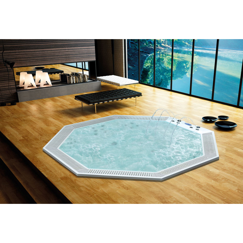 Octagonal Embedded Bubble bath whirlpools spa bathtub in Leisure ...