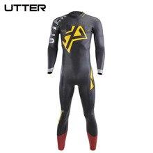 UTTER Xprana Men's Triathlon Wetsuit Neoprene SCS NANO Coating Fullsleeve Suit Surf Open Water Swimming Fastest Suits Swimwear