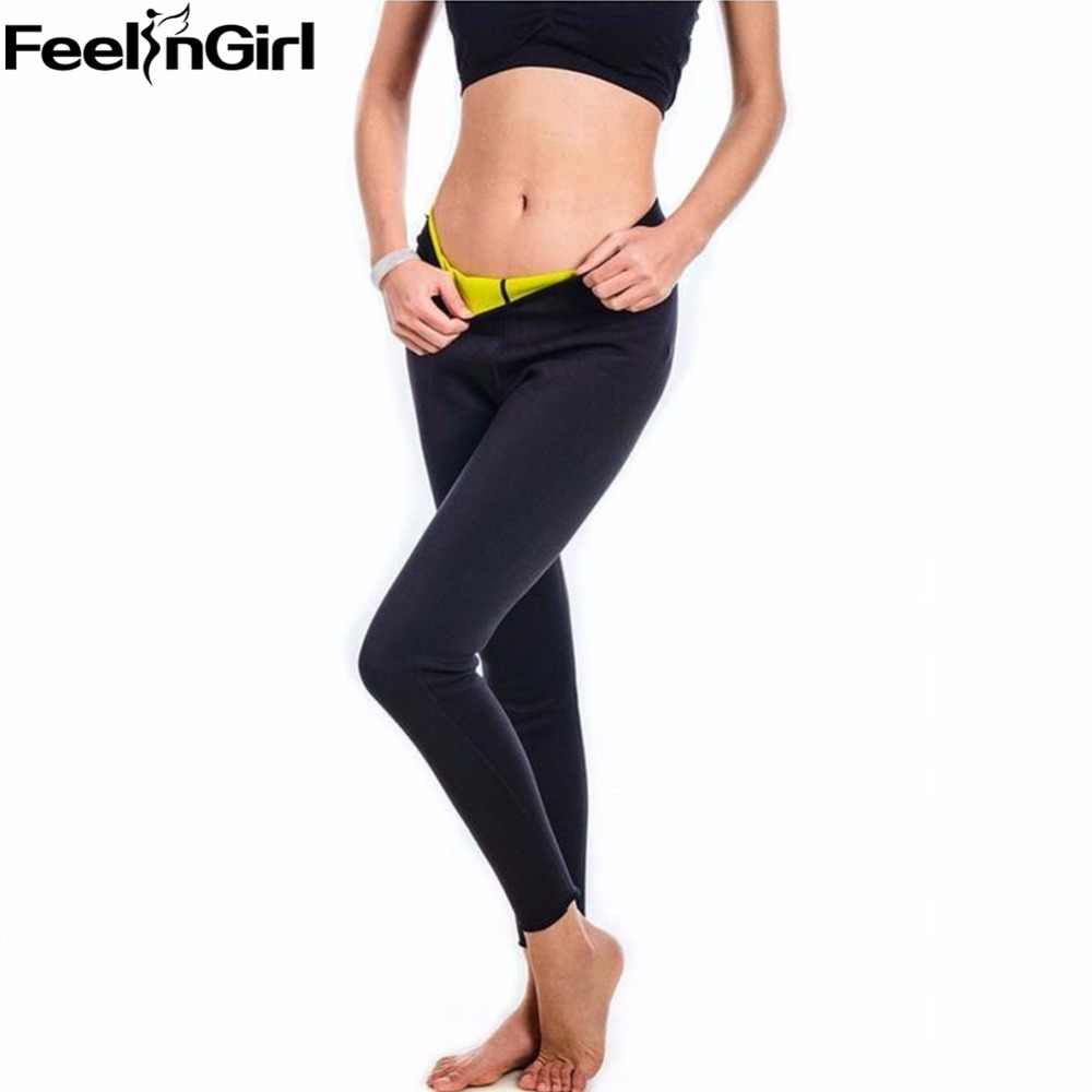 978c65de4c1ad Weight Loss Nine Pants Hot Shapers Neoprene Body Shaper Women Slimming Pants  With Tummy Control Fitness Leggings Trouser 0S-in Control Panties from ...