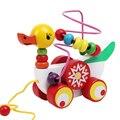 Brinquedos De Madeira Em Torno de Contas Brinquedo Do Bebê Patinho pato Reboque Mini Cerca de Contas Jogo Educativo Brinquedos Para O Presente Das Crianças Dos Miúdos