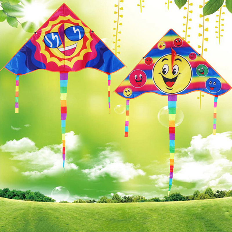 New Smile Angel Smiley Sports Beach Toy Design Smiling Face Kite Smile Stunt Kites Cometa Child Toys