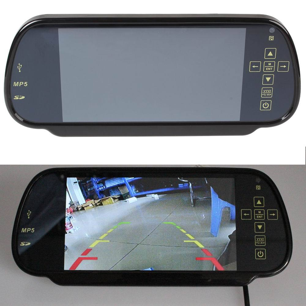 7Inch TFT LCD MP5 Car Rear View Mirror Monitor Auto Vehicle Parking Rearview For Reverse Camera Car accessories