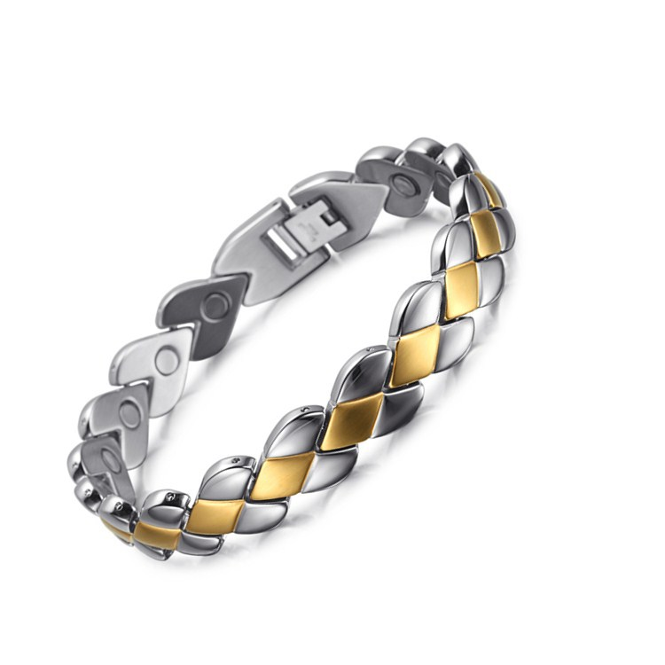 Male and Female Common Couple Stainless Steel Bracelet European American Fashion Magnet Jewelry