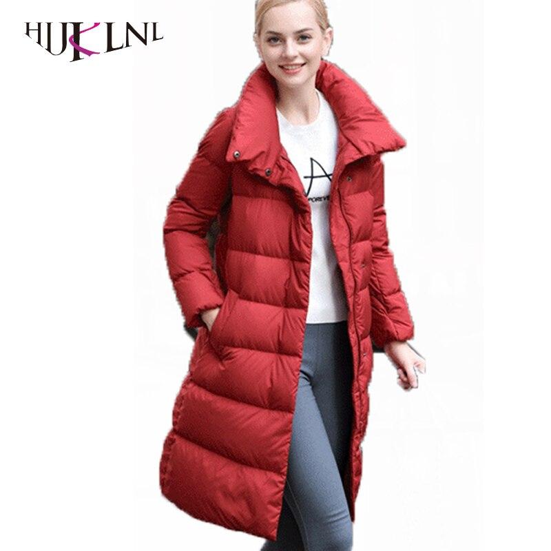 HIJKLNL 2019 nouveau 90% duvet de canard blanc vestes d'hiver femmes Long vers le bas Parkas chaud pardessus femme bas manteaux parkas mujer LZ433