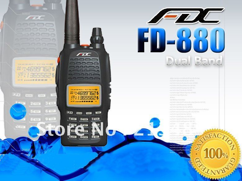 New Dualband Radio FEIDAXIN FDC FD-880 136-174 & 400-480Mhz Two Way Radio Walkie Talkie FD880 Best For Hotel,HAM,security Use