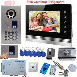 Sunflowervdp wired video door phone 7inch tft color lcd inner door bell fingerprint code unlock touch.jpg 250x250