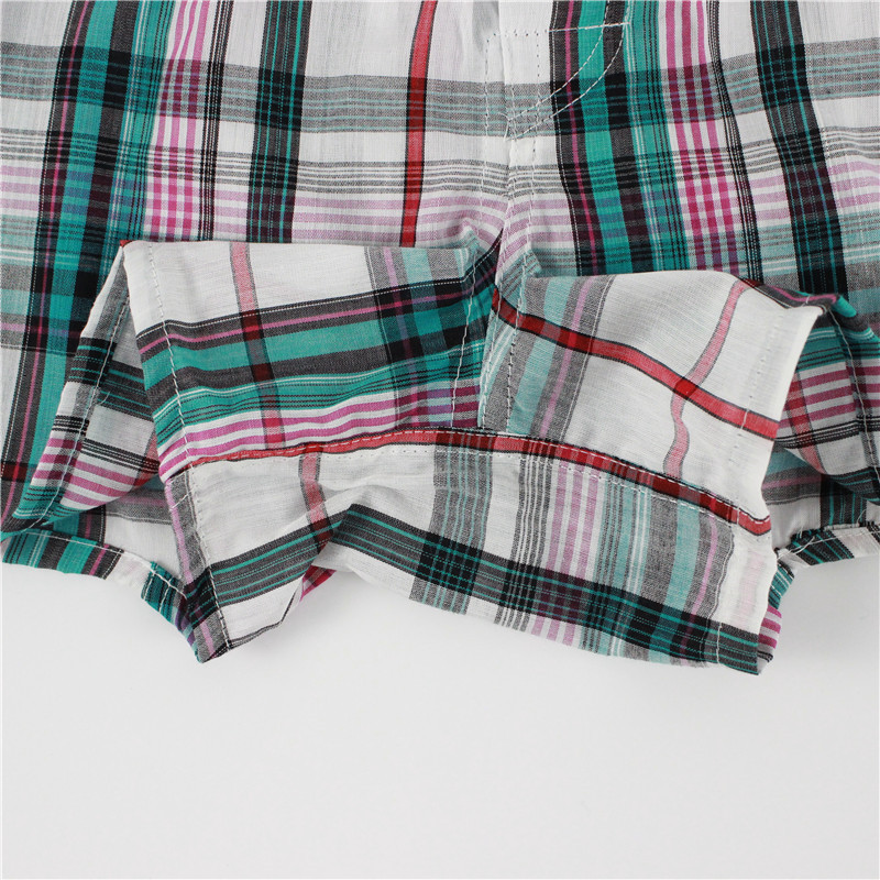 5 pcs Mens Underwear Boxers Shorts Casual Cotton Sleep Underpants Quality Plaid Loose Comfortable Homewear Striped Arrow Panties