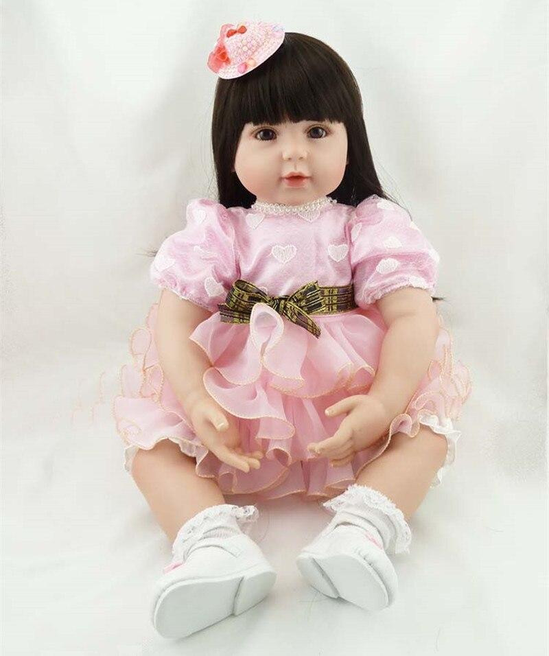 NPKCOLLECTION New 55cm Soft Silicone Reborn Dolls Reborn Lifelike Girl Doll Brinquedos Lovely Sleep Baby Doll