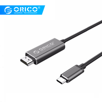 ORICO 4K 3D Type C to HDMI HD Adapter Cable USB C to HDMI Screen Converter Cable for Mobile Phone Laptop Huawei Mate10 Samsung