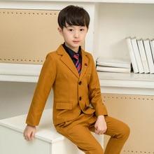 2019 Small children's clothing wholesale children's suit  boy suit host show  kids summer boutique clothing boys clothes ALI 298 недорого