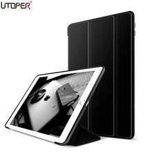 UTOPER Trifold YiPPee Color Case For Apple iPad 2 3 4 Case Transparent Cover For New iPad 2 iPad 4 Capa Smart Stand For iPad 234