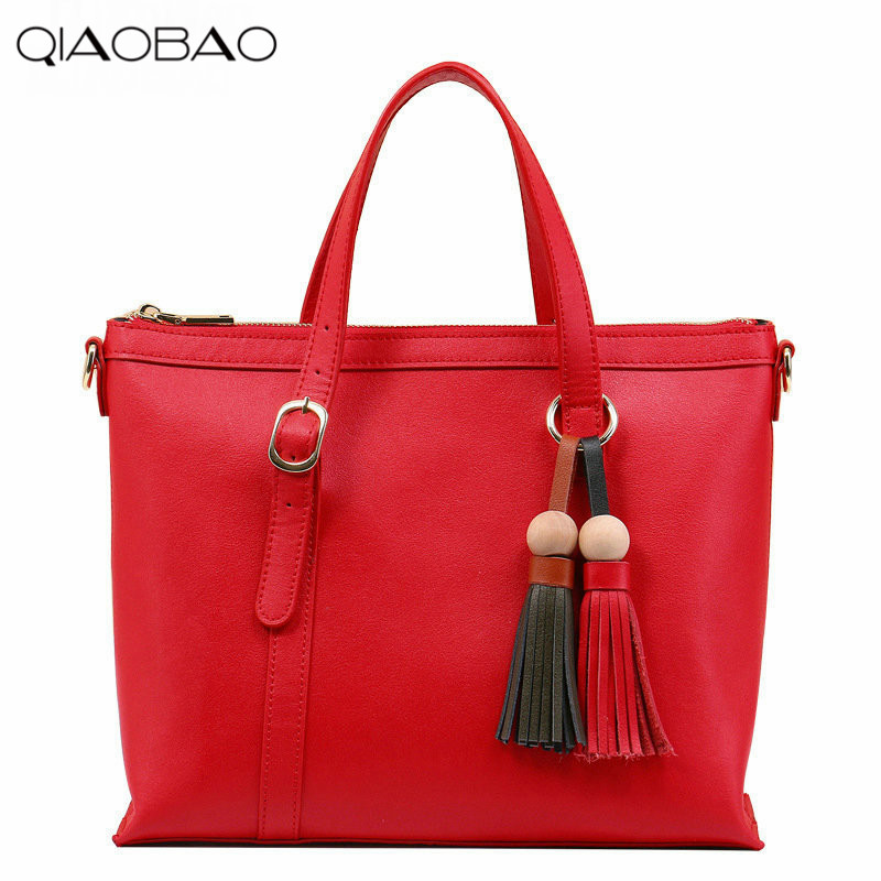 QIAOBAO 2018 New Korean Fashion Leather Handbag Trend Of Women's Shoulder Bag Diagonal Cross-flow Totes qiaobao spring new first layer of leather shoulder messenger female bag korean fashion trend envelope bag