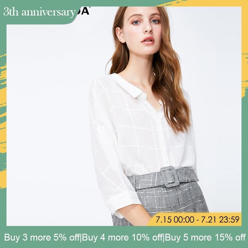 Vero Moda V Neck Women Seven-Sleeve   Blouse     Shirt   Tops| 318331554