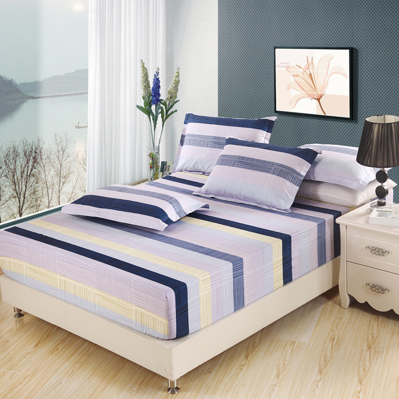 buy hot sale stripe bed fitted sheets 100 cotton fabric sheets with elastic. Black Bedroom Furniture Sets. Home Design Ideas