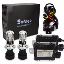 Safego H4-3 35w car bixenon hid kit h4 Bi xenon high low h4 Hi Lo 5000k 6000k 8000k 4300k 12000k for Car Headlights