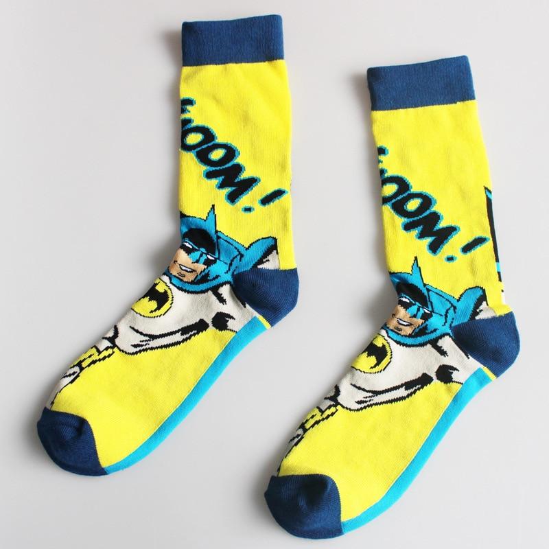 Costumes Socks Comics Hero Knee-High Sock Iron Man Captain America The Hulk Batman Superman Marvel Comics Super Hero Casual Sock