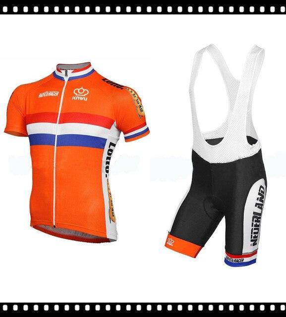 2016 bonito diseño Holand equipo bicicleta Jersey Ropa Ciclismo Maillot Ciclismo  Ropa deportiva transpirable poliéster 9041e2300