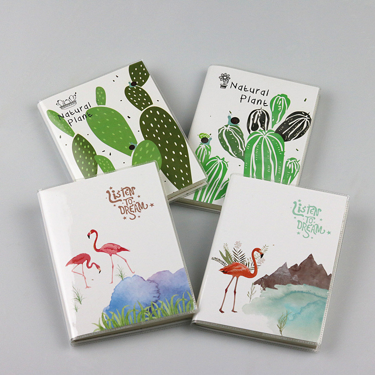 TUTU Creative flamingos Cactus Leaves Cover Planner Notebook Diary Book Binding Note Notepad Gift Stationery Random delive G0005