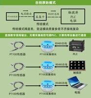 PT100 Temperature Transmitter RS485 Platinum Thermal Resistance PT1000 Module Sensor Direct Digital Non Isolation