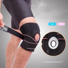 цена на 1PCS 2019 Knee Support Professional Protective Sports Knee Pad Breathable Bandage Knee Brace Basketball Tennis Cycling Hot