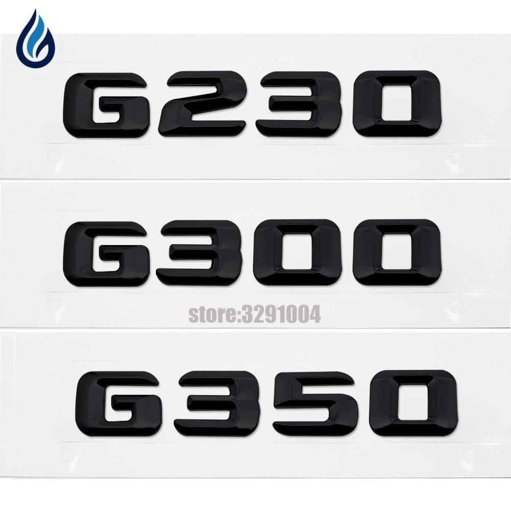 Car Styling For Mercedes Benz G Series W460 W461 W463 G230 G300 G350 Chrome Number Letters Rear Trunk Emblem Badge Sticker car styling for mercedes benz g series w460 w461 w463 g230 g300 g350 chrome number letters rear trunk emblem badge sticker