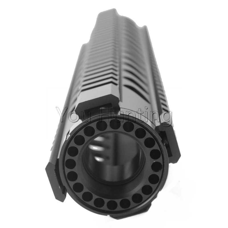 Tactical T-Serie Free Float 12 Inch Handguard Quad Rail Scope Mount Gun Accessories