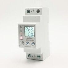 63A 80A 110 в 230 В din-рейка регулируемое защитное устройство от перенапряжения предельная защита тока Вольтметр Амперметр кВтч
