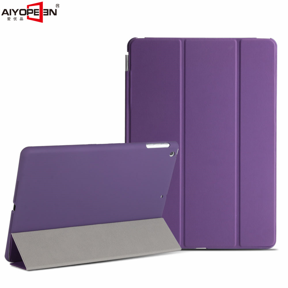 for new ipad 9.7 case 2017 release,aiyopeen smart wake up sleep solid pc back cover with 3-fold pu leather magnetic flip stand for ipad air2 case pu leather smart wake up sleep solid pc back cover magnetic flip stand origimi brand aiyopeen with gift