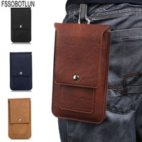 FSSOBOTLUN 4 Colors Universal Double Portable Waist Belt Clip Holster Mobile Phone Case For ASUS ZenFone