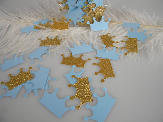 Prince Crowns Table Confetti Baby Boy First Birthday Wedding Scatters Party  Decorations Scrapbooking Embellishment In Banners, Streamers U0026 Confetti  From ...
