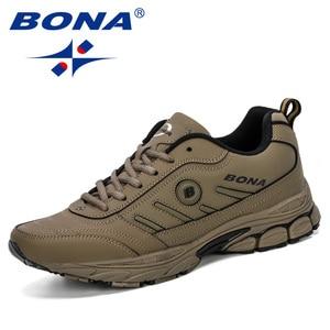 Image 3 - BONA 2019 ฤดูใบไม้ผลิฤดูใบไม้ร่วงรองเท้าผู้ชาย Running Breathable กีฬากลางแจ้งรองเท้า Zapatos วิ่งสบายรองเท้าผ้าใบชาย