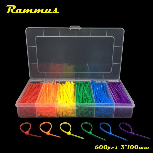 Rammus 600pcs Colorful 3*100mm Self Locking Nylon Plastic Cable ...
