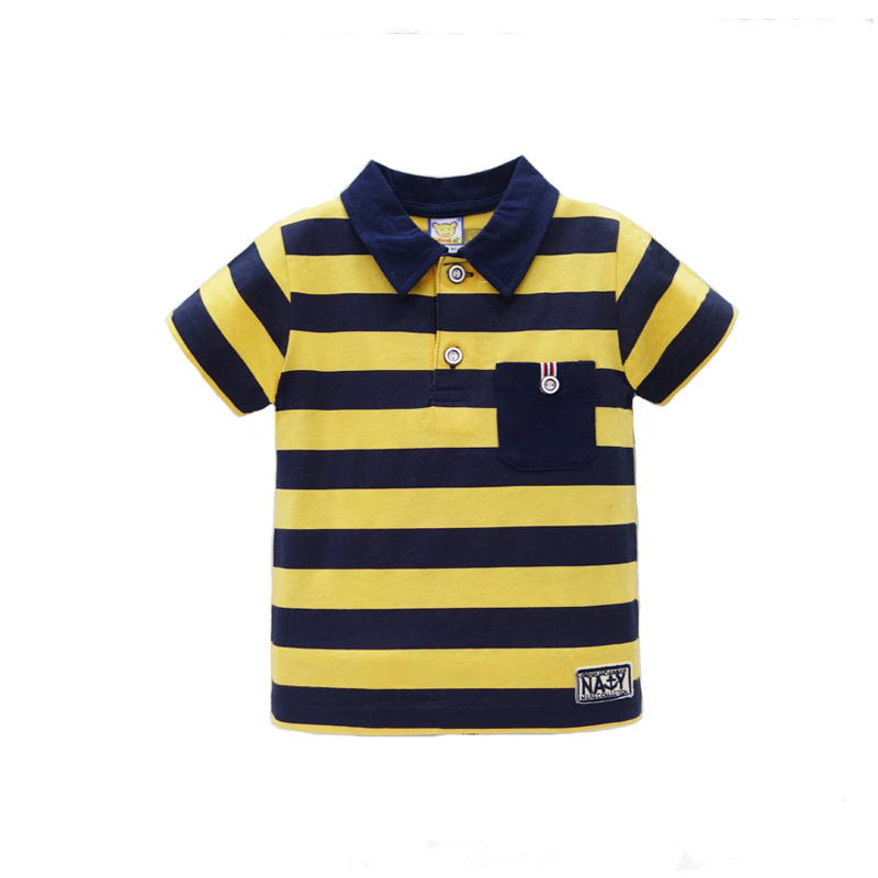 2017 New arrival polo t shirt baby short striped for boys tops pure cotton children summer clothing Girls Tee