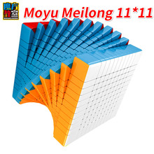 Nowy Moyu Meilong 11x11 11 warstw prędkość magiczna kostka MoYu 11x11x11 bezklejowa kostka łamigłówka Magico Cobo dzieci dorosły