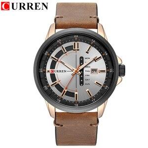Image 2 - CURREN Montre de luxe pour hommes, Montre bracelet de sport militaire, analogique, à Quartz, affichage calendrier, décontracté
