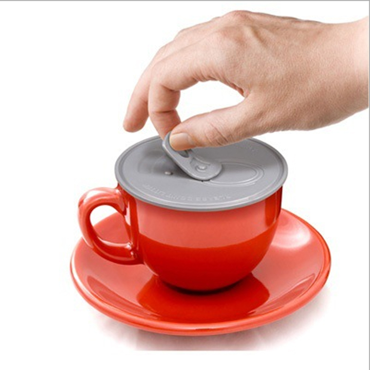 Hot Sale 3pcs Silicone Cup lids top seals Novelty Drinking Cups Lid Anti-dust on jars cans Cover wholesale K059