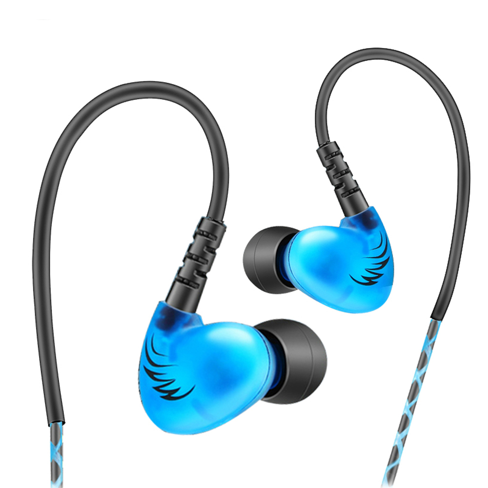 RUKZ S6 XBS BASS Sport Earbuds for Mobile Phone Noise Cancelling Earpiece DJ Stereo In Ear Running Earphones HiFi Earbud kz ed8m earphone 3 5mm jack hifi earphones in ear headphones with microphone hands free auricolare for phone auriculares sport
