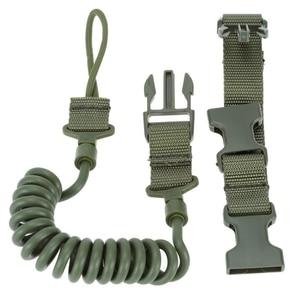 Image 5 - Durable Elastic Outdoor Tactical Safety Lanyard Quick Release Belt Extension type Sling Adjustable Belt Combat Accessories