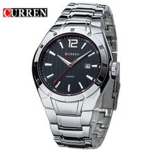 2019 Curren erkekler lüks marka spor saatler su kuvars saatler tarih el saat erkekler tam paslanmaz çelik kol saati relogio