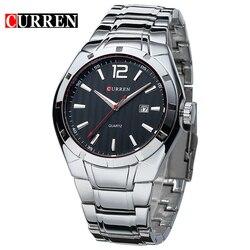 2019 Curren mężczyźni luksusowej marki sportowe zegarki woda Quartz godziny data zegarek na rękę mężczyźni pełna nadgarstek ze stali nierdzewnej zegarek relogio w Zegarki kwarcowe od Zegarki na
