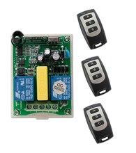 SÚPER AC 220 V 2 CH RF Inalámbrico de Control Remoto 1 motor tubular para puertas de garaje receptor 3 Transmisor pantalla de proyección 3 botón