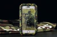 New Camouflage Luxury Dirt Shockproof Waterproof Case For Iphone 4 4S Heavy Duty Armor Aluminum Metal