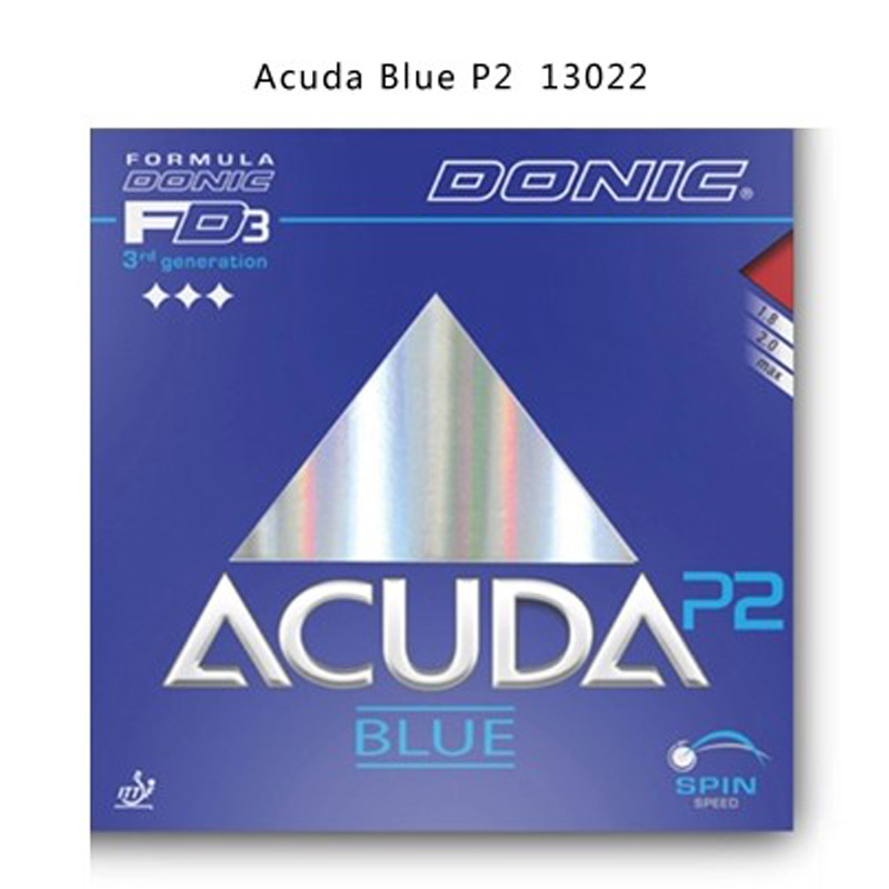 New original Donic Table Tennis Rubbers Donic Acuda Blue P1 P2 P3 Pimples In BLUE SPONGE