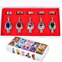 Anime Doll Accessories Puella Magi Madoka Magica Kaname Madoka Soul Gem Necklaces Rings Cosplay toys Kids Gift