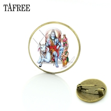 Picture-Brooches Shiva Jewelry Badge Pins-Up Women Accessories Hinduism TAFREE Glass