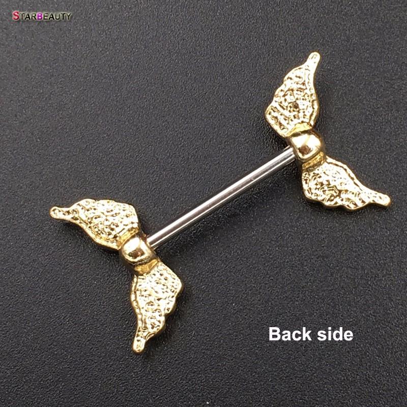 HTB10WIZOVXXXXXhaFXXq6xXFXXXw Starbeauty 2pcs/lot Angel Wing Nipple Piercing Mamilo Sexy Women Nipple Ring Body Jewelry Cute Fake Nipple Cover Pircing Gift