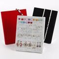 Wholesale High Quality Ice Gray/Black/Red Velvet Ring Earring Jewelry Display Stand Holder For 50 Pcs