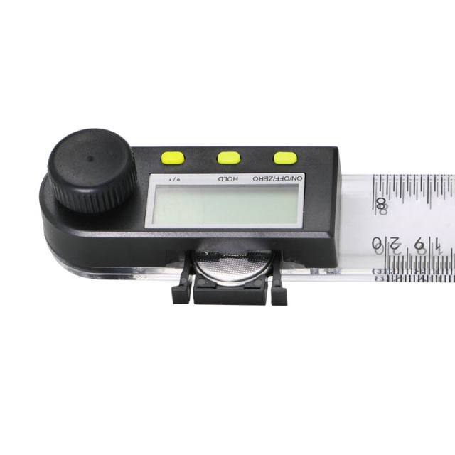 200 mm 8'' Digital protractor inclinometer goniometer Plastic Angle Ruler  Finder Meter Level Measuring Instrument
